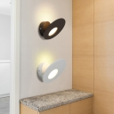 Modern Matte White/Black Oblong Led Wall Lighting 7.08