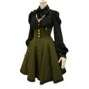 Button Waist Spaghetti Straps Sleeveless Lace Up Back Mini Overall Skirt