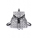 Chic Geometric Luminous Press-Release Fastening Backpack