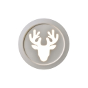 Light Adjustable 11.42in Wide Antlers Led Wall Lights 13W 3200K-5500K White Metal Round Led Sconce Lights Suitable for Living Room Bedroom Bathroom Hallway