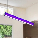 Colorful Flush Mount Lights Led Modern Lighting High Bay Lights Linear Pendant 18W 3000/4000/5000K 46.65in Length Aluminum Energy-Saving Led Downlight in Orange/Purple