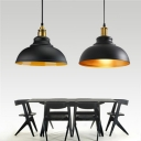 Vintage Style 11.81 Inch Wide Coffee House 1 Light Pendant Lamp in Black Finish for Warehouse Bar Restaurant