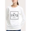 Leisure 1975 Graphic Printed Round Neck Long Sleeve Sweatshirt