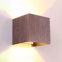 Brown/Gold Leaf Led Wall Sconce Post Modern 6W 3.97