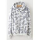 Geometric Pattern Long Sleeve Flannel Warm Hoodie