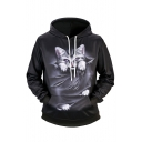 3D Cat Scratch Printed Long Sleeve Hoodie