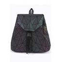 Triangle PU Buckle Straps Fastening Backpack School Bag