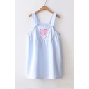 Lovely Heart Pattern Straps Sleeveless Mini Cami Dress