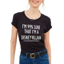 I'M 99% SURE Letter Printed Round Neck Short Sleeve Graphic Tee