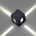 Directional LED Black Finish Square 3D Wall Sconce 3W Aluminum Cubic Led Wall Light for Bedsides Corridor Hotel Office Hallway
