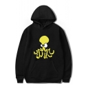 Cartoon Octopus Printed Long Sleeve Hoodie