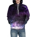 3D Star Cloud Printed Long Sleeve Casual Hoodie