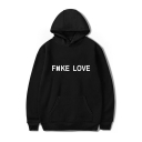 Korean Star Letter Graphic Printed Long Sleeve Casual Hoodie