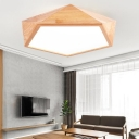 Lamparas Art Deco Home Lighting Led Diamond Shaped Led Surface Mount Lighting 16/23W Wooden Led Ceiling Lights with Small/Large Size for Option