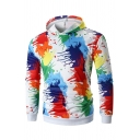Colorful Splash Ink Long Sleeve Slim Hoodie