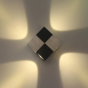 New Modern Aluminum Square LED Wall Light 4W Indoor Small Led Sconces in Black Finish with Warm White Light