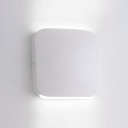 Nordic Simple Style White Finish 6W-10W LED Wall Sconce Metal Shade 5.51