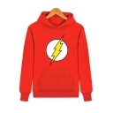Lightning Printed Long Sleeve Hoodie for Couple
