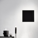 Sandy Black Eclipse Square Led Wall Light 12W 1000LM Aluminum Wall Mounted Indirect Light with 3000K/6000K Warm White Light for Living Room Bedroom