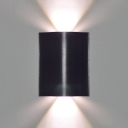 Die Cast 6W/12W/18W 600LM High Bright Square Led Wall Light Aluminum 1/2/3 Head Led Up Down Lighting Black Sconces