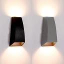 Geometric LED Wall Light Fixture Low Wattage 6W Energy-Saving 2 Light Led Up Down Lighting Black/White Aluminum Led Sconce Lights
