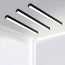 Modern Black Finish Aluminum LED Chandelier Led Chandelier Office Meeting Room Workshop Corridor