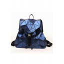 Cool Geometric Glitter PU Buckle Straps Fastening Backpack School Bag