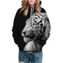 3D Casual Tiger Print Long Sleeve Unisex Hoodie