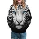 Cool 3D Tiger Long Sleeve Unisex Hoodie