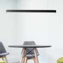 18/36W Led Linear Suspension Light in Acrylic Lampshade, 3000LM 6000K Led Workbench Office Garage Lighting