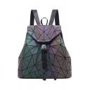 Popular Geometric Buckle Straps Fastening Leisure Backpack School Bag