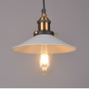 Modern White Industrial Pendant Light Saucer Shape Shade (4 Sizes Available)