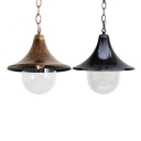 Single-Bulb Ceiling Pendant Fixture with Flared Shade for Restaurant Two Colors for Option