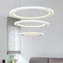 Modern LED White Pendant Light 9.84