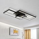 High Performance Black LED Frame Ceiling Flush Light 33.46