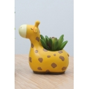 Cute Giraffe Resin Planter for Succulents Desktop Flowerpot