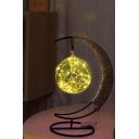Battery Powered Glass Pendant LED Light Desktop Gift Lamp