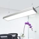 Trunking Pendant Lighting 35/55W 3000K--6500K Silver Led Linear Pendant Light 47.24