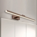 Brushed Aluminum LED Linear Vanity Light Adjustable LED Neutral Light 6W-16W High Output Brown Wall Light Best Lighting for Bathroom Mirror Bedside