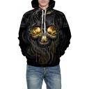 Winter Collection Skull Smoke Pattern Long Sleeve Unisex Hoodie
