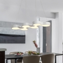 Architectural Linear Fixture 48W 34.50 Inch Long Black/White Curved LED Chandeliers Decorative Commerical Office Kitchen Island Lights