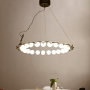 Modern Light Fixtrure Cream Glass Bubble Chandelier 27.17