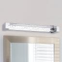 Silver Finish Second Gear 6W Light Linear Wall Sconces Modern Bathroom Bedside Living Room Lighting Seedy Glass Led Vanity Light