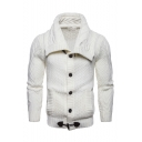 Basic Solid Long Sleeve Button Down Slim Fitted Cardigan