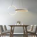 Nordic Style Minimalist 2 Light C-shaped LED Chandelier 78W 7.84