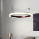 Color-Changing Linear LED Chandelier Creative Designers Brown Metal Tyre LED Pendant Light 54/126/218W Tiered Innertube LED Chandelier