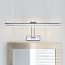 Adjustable Arc Arm LED Polished Chrome Vanity Light 17.72