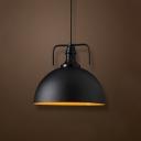 Loft Black LED Mini Pendant Indoor Lighting Fixture in Bowl Shape
