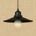 Black 1-Light Dining Room Mini Pendant Light