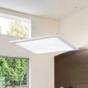 Modern Lighting Aluminum Led Pendant Light Matte White Squared LED Hanging Light Ultra Thin Flat Panel Lights for Kitchen Office Stores